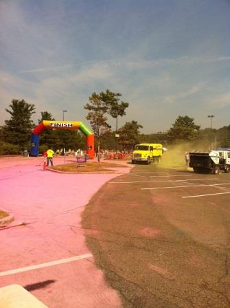 Color Me Rad 5k Sweeping