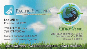 Pacific Sweeping Front of Card