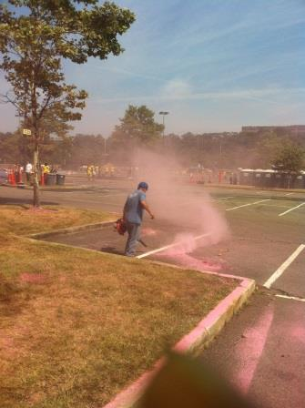 sidewalk blowing color run
